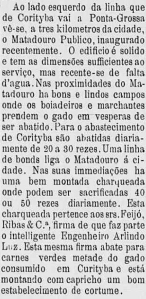 1900 - Descrição do Matadouro Municipal. In: Jornal A Republica. op. cit. Anno XV, n.° 4. Curityba: 6 de janeiro de 1900. p.2..