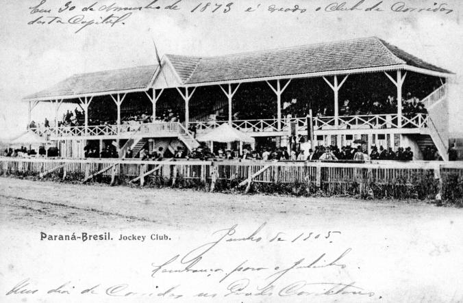 1905, junho - Prado de Corridas. Fonte: Coleção Julia Wanderley. Acervo: Instituto Histórico e Geográfico do Paraná.